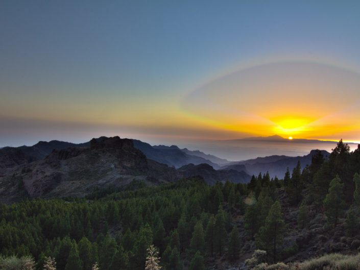 Sunset over Teneriffa (Roque Nublo de Gran Canaria)