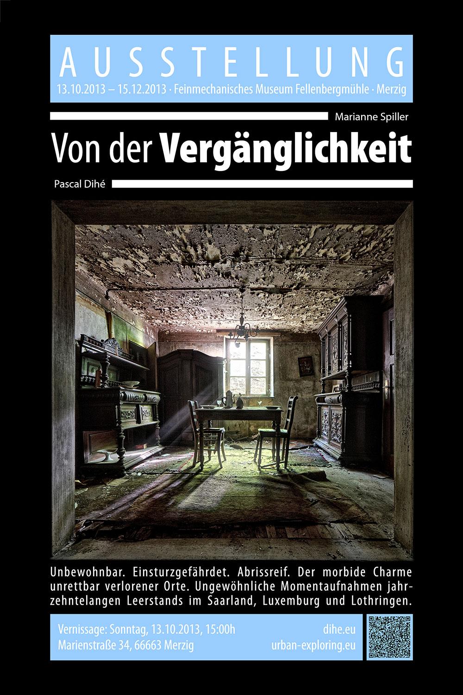 """Plakat """"Von der Vergänglichkeit"""""""